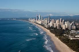 Queensland beach, bldgs